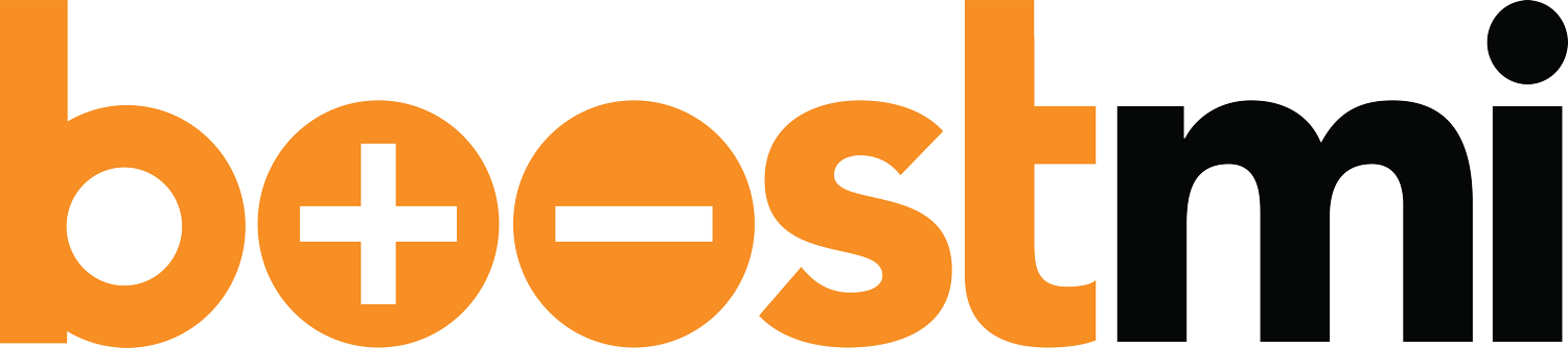 Logo de Boostmi - Service de survoltage automobile - Application mobile.